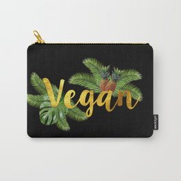 Tropical Vegan with Pineapples Carry-All Pouch