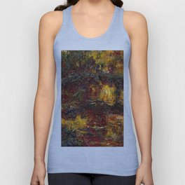 1920-Claude Monet-The Japanese Footbridge, Giverny-89 x 94 Unisex Tank Top