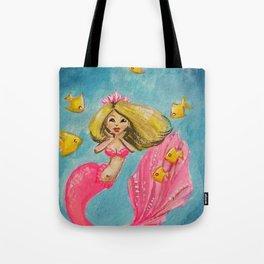 Pink Mermaid Tote Bag
