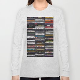 Old 80's & 90's Hip Hop Tapes Long Sleeve T-shirt