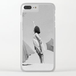 Umbrella ballet Clear iPhone Case