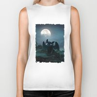 daenerys targaryen Biker Tanks featuring TOOTHLESS halloween by kattie flynn