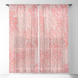Floral Abstract 36 Sheer Curtain