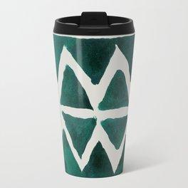 Teal Triangles Travel Mug