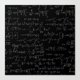 Chalk board mathematics pattern Canvas Print