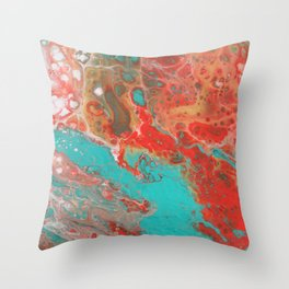 Strawberry Lime Daiquiri and Sunshine Throw Pillow
