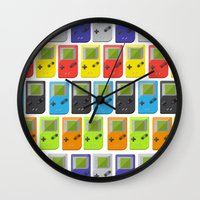 gameboy Wall Clocks featuring GAMEBOY COLOR 2 by soycocon