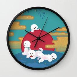 Year of dog Wall Clock