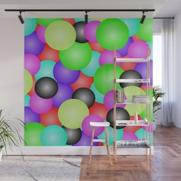 berry bubbles bubble gum Wall Mural