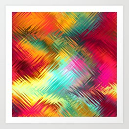Colorful glass pattern Art Print