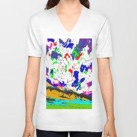 zodiac V-neck T-shirts featuring Zodiac by lookiz