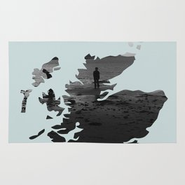 'Wandering' Scotland map Rug