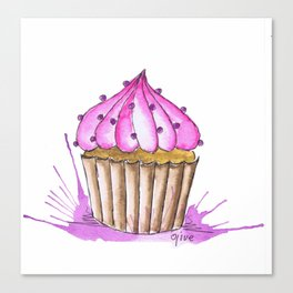 Cupcake in Pink Canvas Print