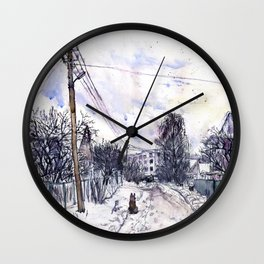 Moscow. Russia. Moscow suburbs Wall Clock