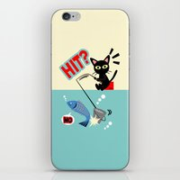 fishing iPhone & iPod Skins featuring Fishing by BATKEI
