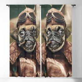 Pete the Pilot Pug Blackout Curtain