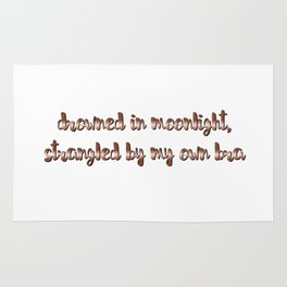drowned in moonlight, strangled by my own bra Rug