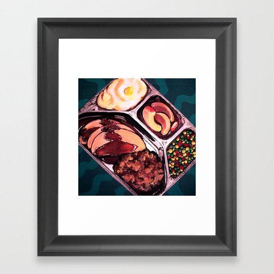 TV Dinner Framed Art Print