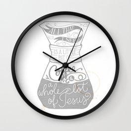 Coffee & Jesus Wall Clock