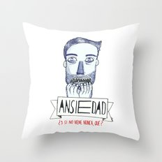 Ansiedad (Anxiety) Throw Pillow