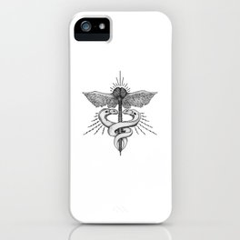 Neuroelectric Caduceus iPhone Case