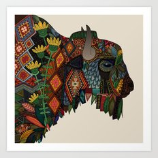 bison bone beige Art Print