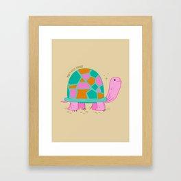 Don't Rush Tortoise Framed Art Print