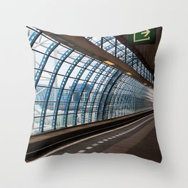railway station Amsterdam Sloterdijk Throw Pillow