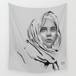 Jyn Erso: sketch-painting Wall Tapestry