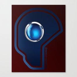 Futuristic Cyborg Logo 1 Canvas Print