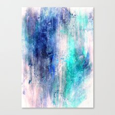 Winter Abstract Acrylic Textured Painting Canvas Print