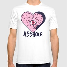 Asshole (Part I) White SMALL Mens Fitted Tee
