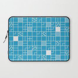 Inverted Boxes Blue Laptop Sleeve