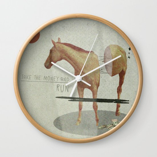 Take The Money and Run Wall Clock