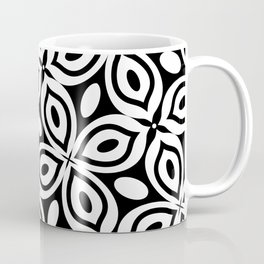 Black + White Mod Butterfly Coffee Mug