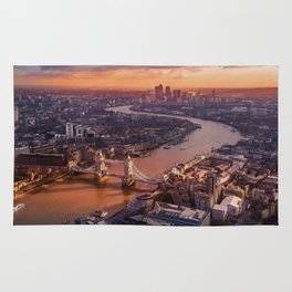 Sunset over London Cityscape (Color) Rug