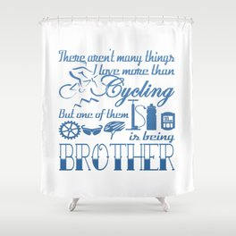 Cycling Brother Shower Curtain