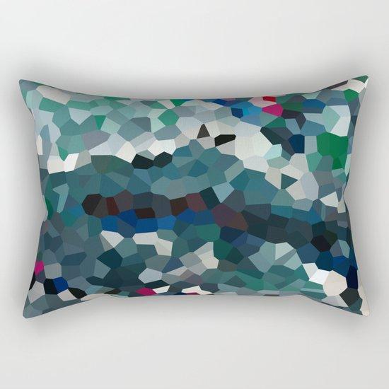 Emerald Sea Green Moon Love Rectangular Pillow