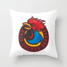 Half Cocked Heroes Logo Throw Pillow