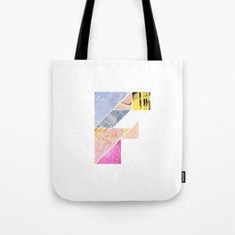 Collaged Tangram Alphabet - F Tote Bag