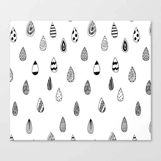 Raindrops of fun Canvas Print