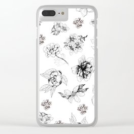 floral flash Clear iPhone Case
