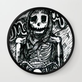 Death on a Motorcycle Wall Clock