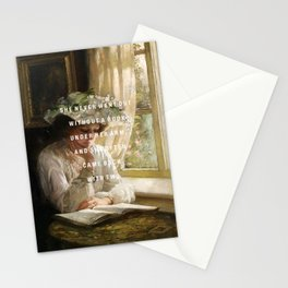 never without a book Stationery Cards