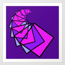 moving squares -14a- Art Print
