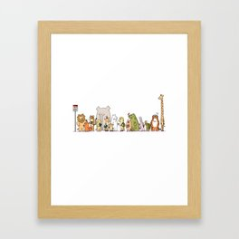 At The Bus Stop Framed Art Print