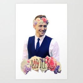 Tom Hiddleston FlowerCrown Art Print