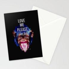 Monkey need love Stationery Cards