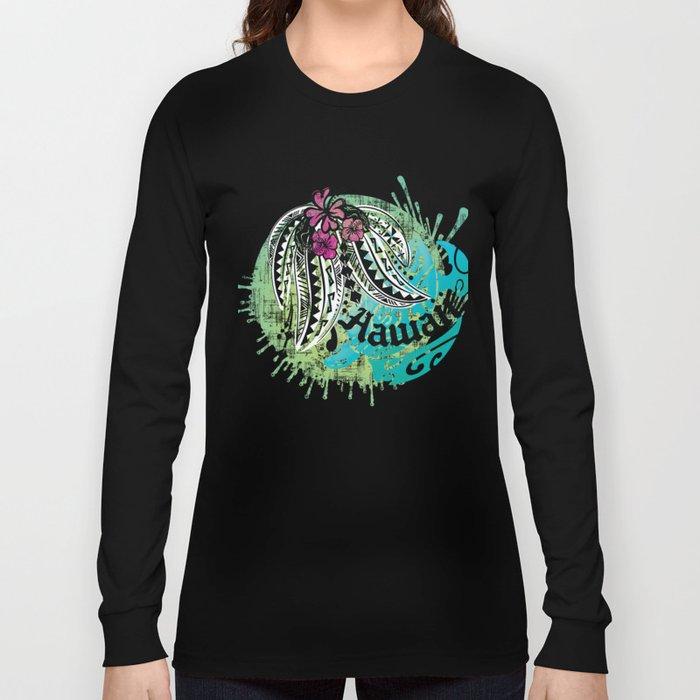 4c9c9ced Ocean Spray Hawaiian Turtle Threads Long Sleeve T-shirt by ...