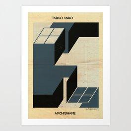 shape tadao ando Art Print